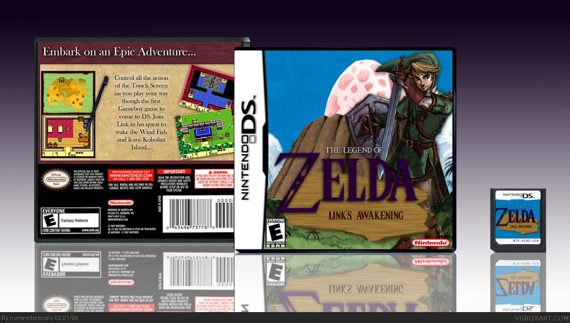 The Legend Of Zelda Link S Awakening Nintendo Ds Box Art