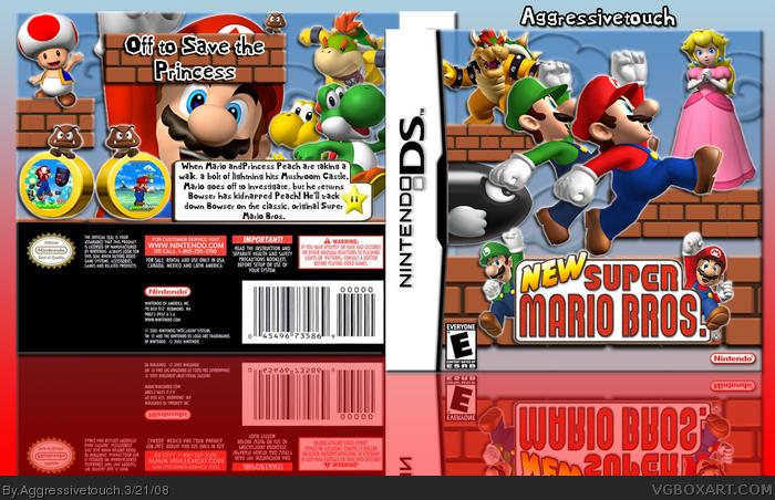 NEW Super Mario Bros  Nintendo DS Box Art Cover by