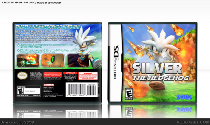 Silver The Hedgehog Nintendo Ds Box Art Cover By Jevangod