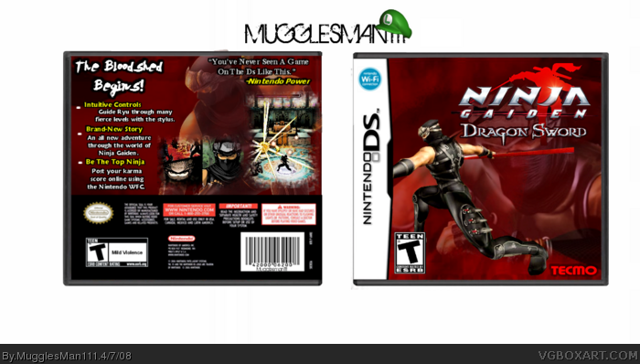 Ninja Gaiden Dragon Sword Nintendo Ds Box Art Cover By Mugglesman111
