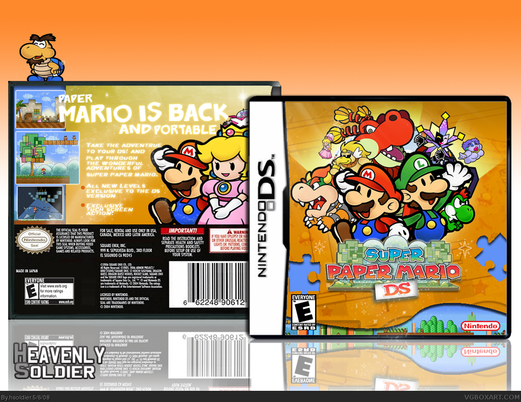 super paper mario ds nintendo ds box art cover by hsoldier
