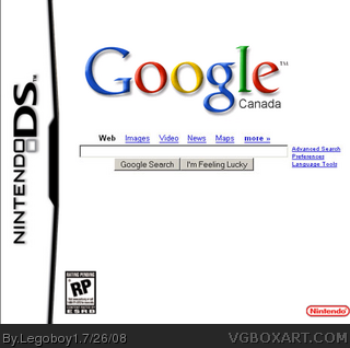 Google Earth DS Nintendo DS Box Art Cover by Legoboy1