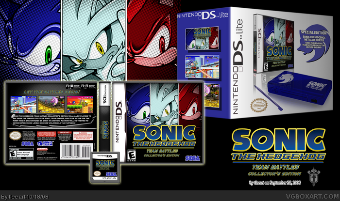 limited sonic nintendo ds lite w stb ce nintendo ds box art cover by tleeart. Black Bedroom Furniture Sets. Home Design Ideas