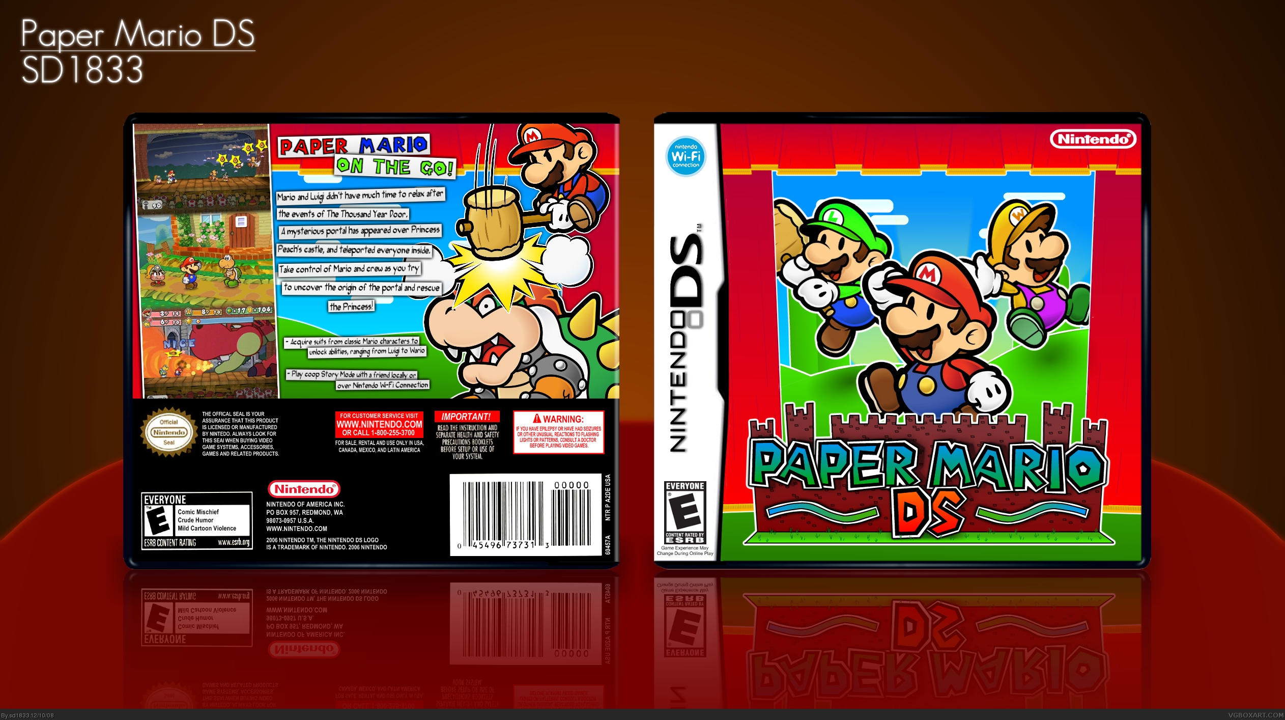 Paper Mario Ds Nintendo Ds Box Art Cover By Sd1833
