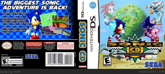 Sonic Cd Nintendo Ds Box Art Cover By Ayling