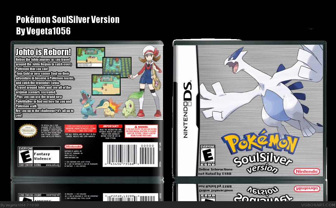 pokemon soulsilver version nintendo ds box art cover by