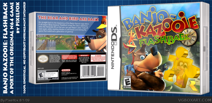 Banjo Kazooie: Flashback Nintendo DS Box Art Cover by Pixelfox