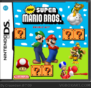 New Super Mario Bros Double Act Nintendo Ds Box Art Cover By