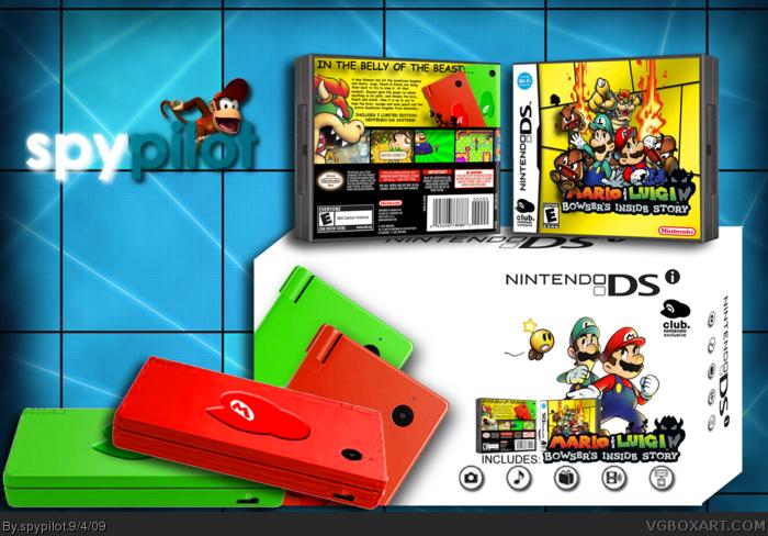 Mario Luigi Bowser S Inside Story Nintendo Ds Box Art Cover By