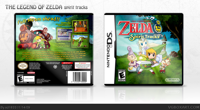 The Legend of Zelda: Spirit Tracks Nintendo DS Box Art Cover by sd1833