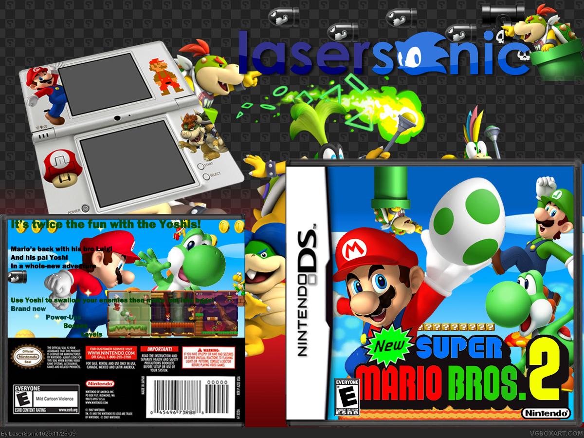New Super Mario Bros 2 Nintendo Ds Box Art Cover By