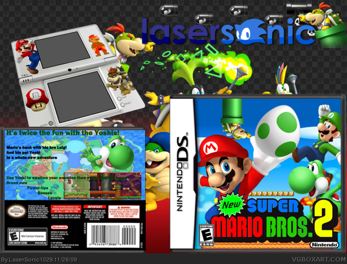New Super Mario Bros  2 Nintendo DS Box Art Cover by