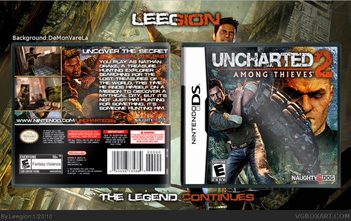 Uncharted 2 Among Thieves Nintendo Ds Box Art Cover By Leegion