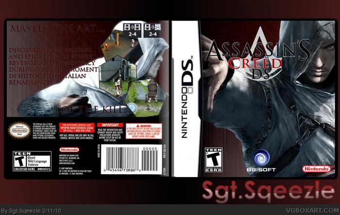 Assassin S Creed Ds Nintendo Ds Box Art Cover By Sgt Sqeezle