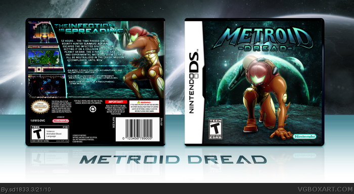 metroid dread nintendo ds box art cover by sd1833