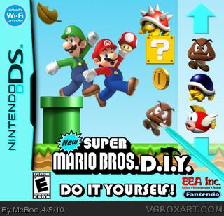 New Super Mario Bros  D I Y  Nintendo DS Box Art Cover by McBoo