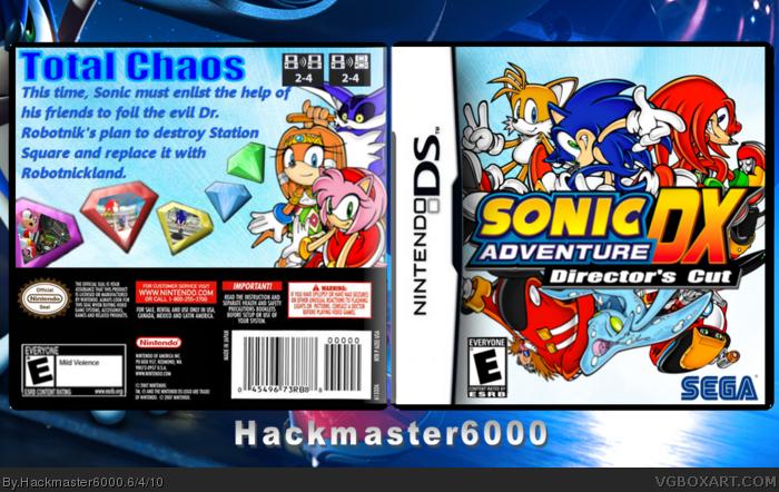 Sonic Adventure DX Directors Cut Nintendo DS Box Art Cover