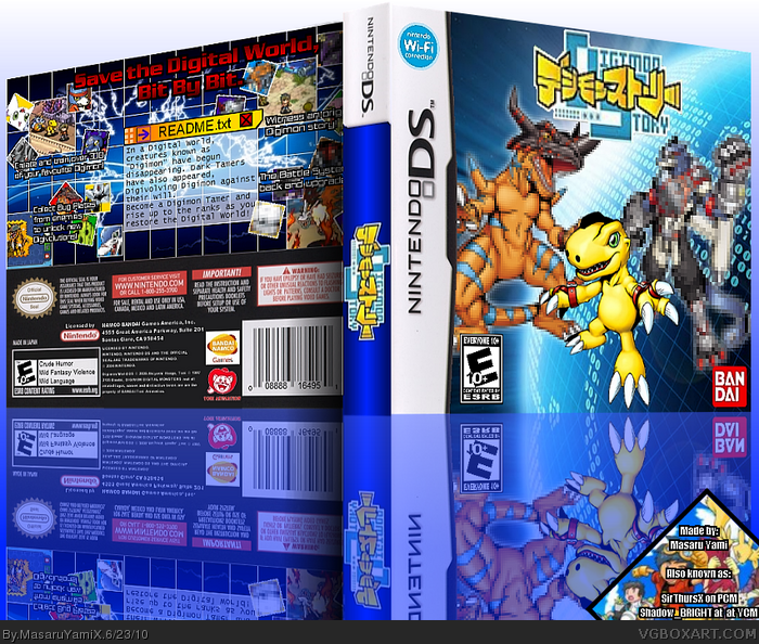 Digimon World: Lost Evolution Nintendo DS Box Art Cover by