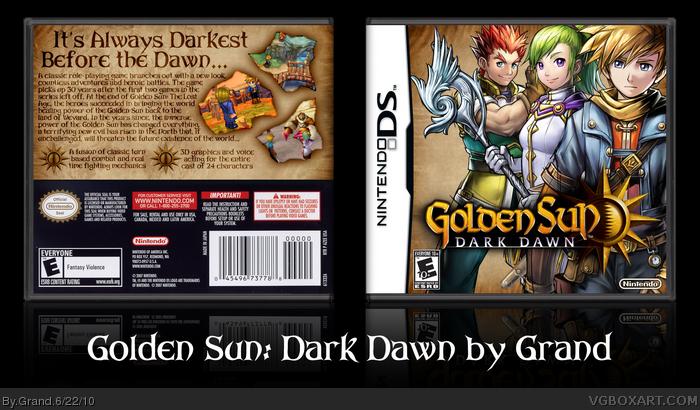 Golden Sun: Dark Dawn Nintendo DS Box Art Cover by Grand