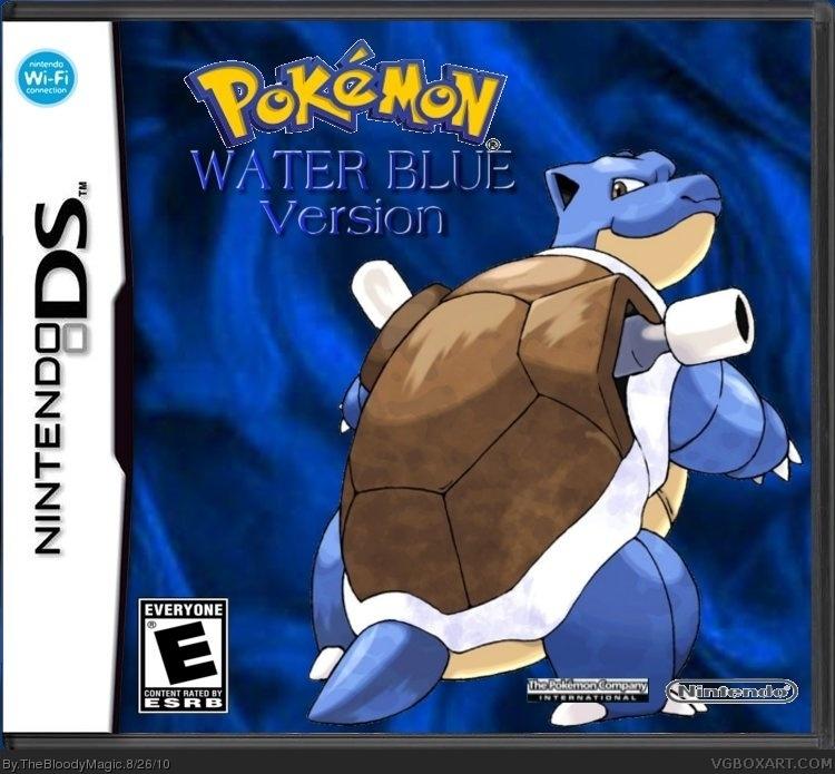 pokemon blue nintendo ds box art cover by thebloodymagic