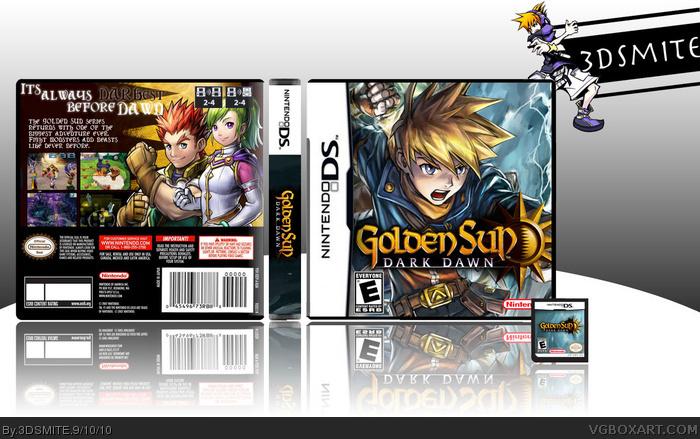 Golden Sun: Dark Dawn Nintendo DS Box Art Cover by 3DSMITE