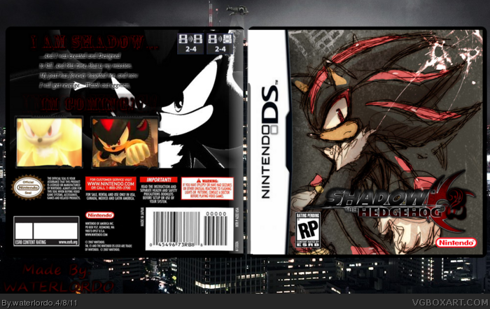 Shadow the Hedgehog 2 Nintendo DS Box Art Cover by waterlordo