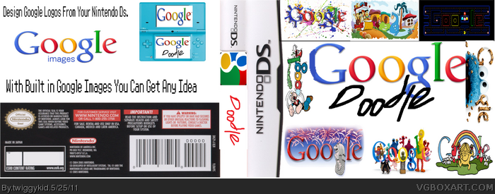 Google Doodle Nintendo DS Box Art Cover by twiggykid
