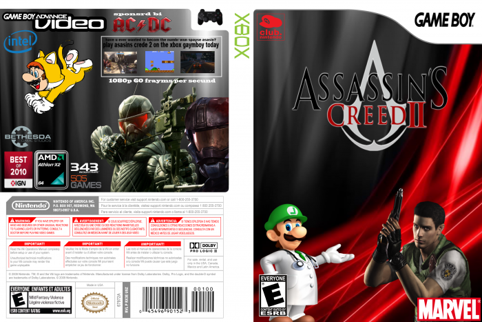 Assassins Creed 2 box art cover