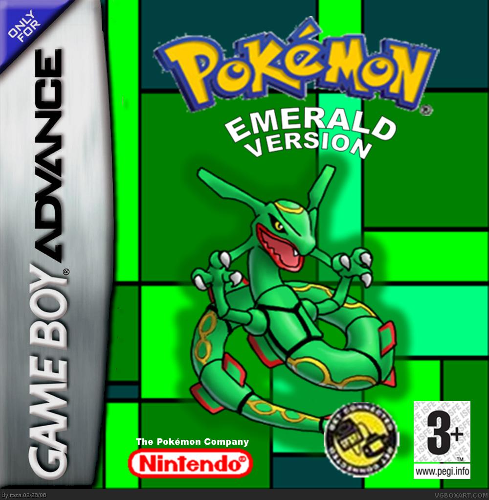 Shani Emerald: Pokemon Emerald Game Boy Advance Box Art Cover By Roza