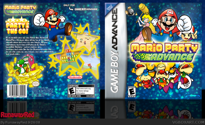 Mario Party Advance Game Boy Advance Box Art Cover By