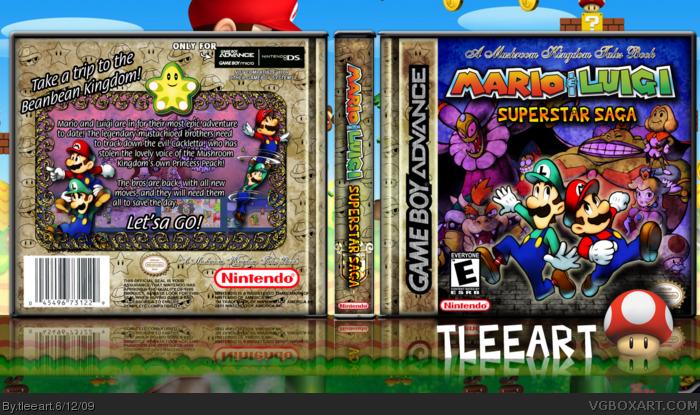 Mario Luigi Superstar Saga Game Boy Advance Box Art Cover By Tleeart
