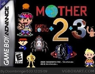 Mother 1+2+3 Game Boy Advance Box Art Cover by Doombringer533