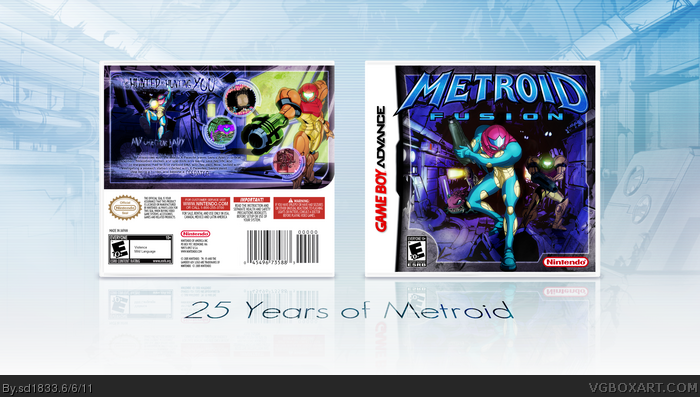 Metroid Fusion Game Boy Advance Box Art Cover By Sd1833