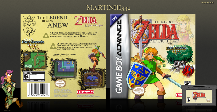 The Legend of Zelda: A Link to the Past Game Boy Advance Box