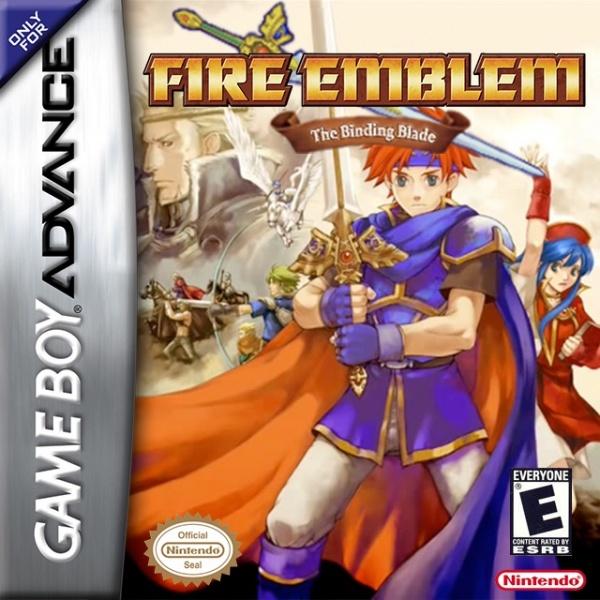 Fire Emblem: The Binding Blade Game Boy Advance Box Art