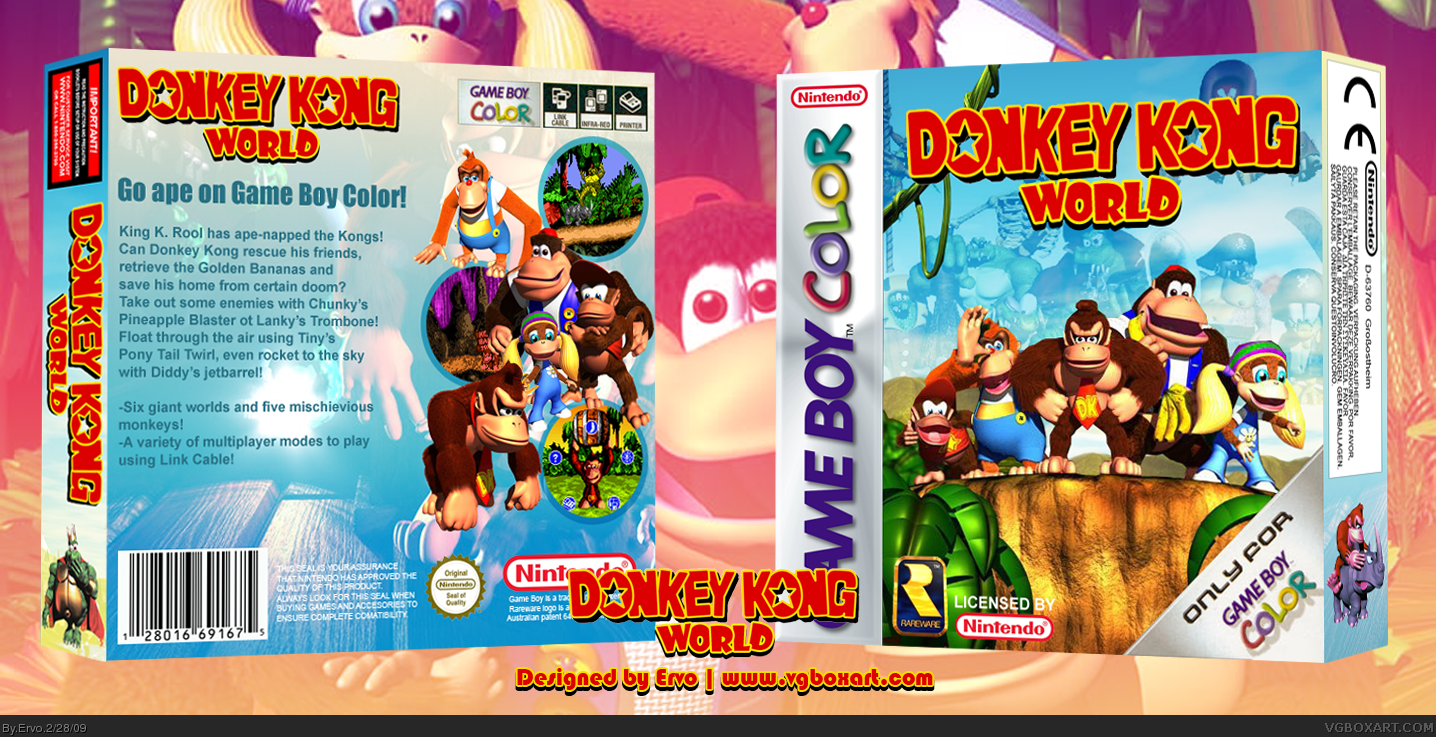 Donkey Kong World box cover
