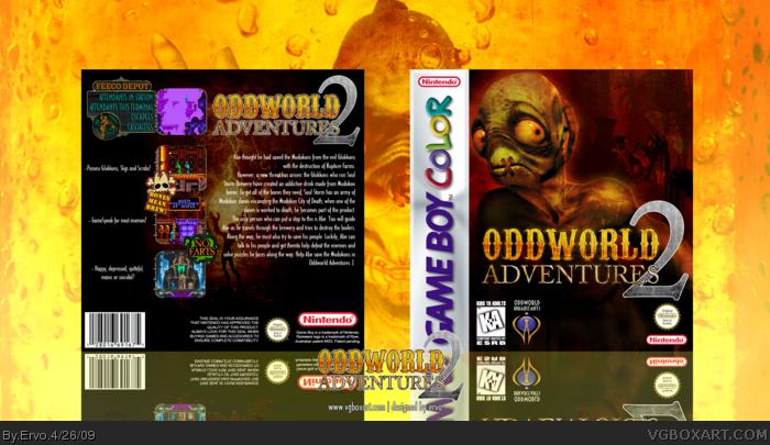 Game Boy Color » Oddworld Adventures 2 Box Cover