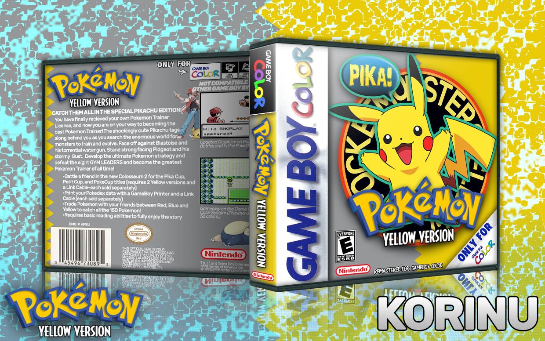 Viewing Full Size Pokemon Yellow Box Cover