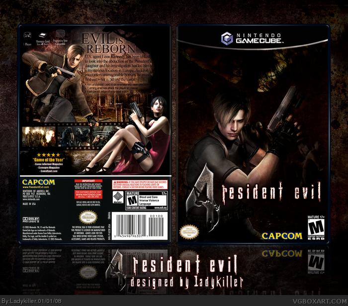 Resident Evil 4 Gamecube Box Art Cover By Ladykiller