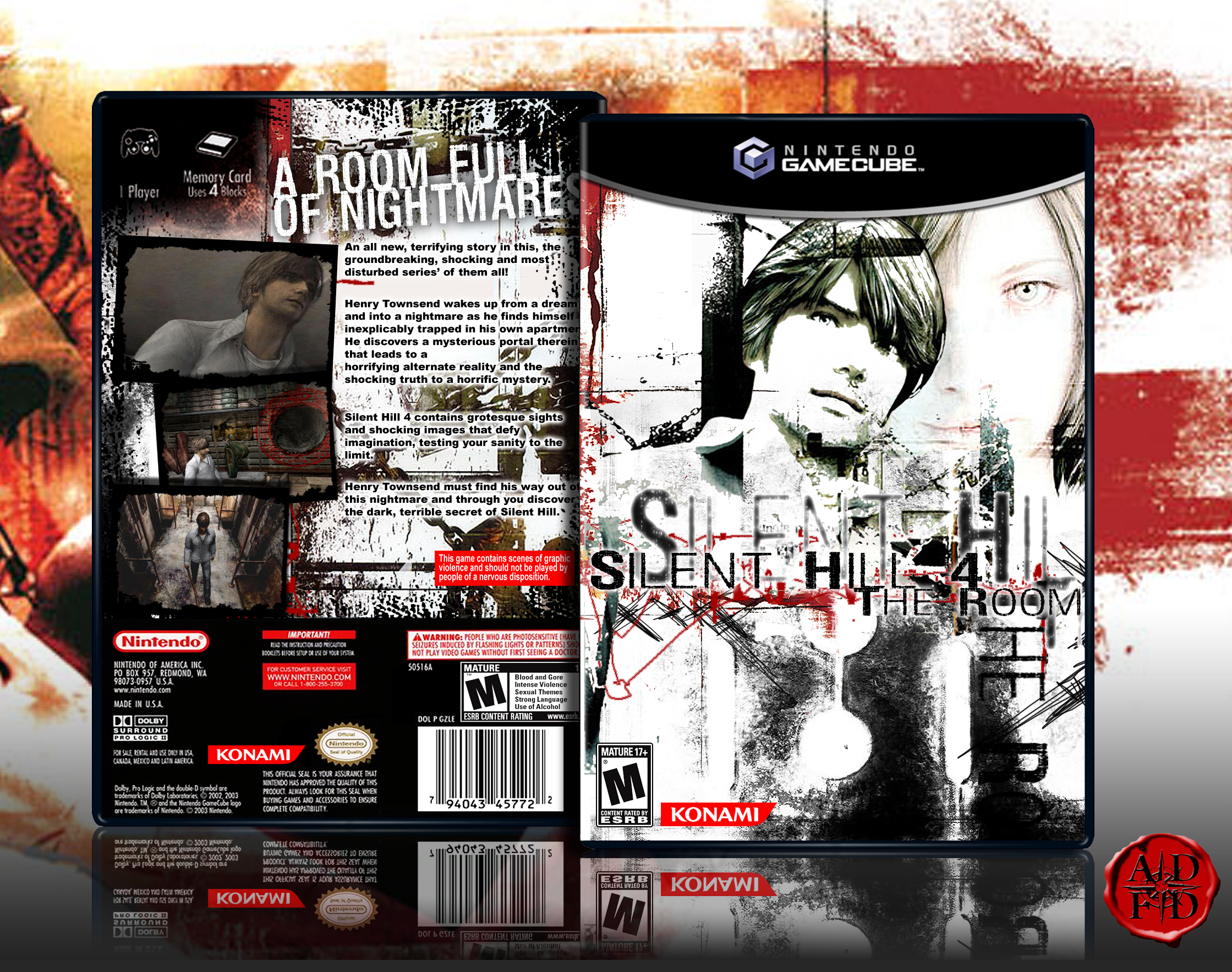 Silent Hill 4 The Room Gamecube Box Art Cover By Alldreamsfalldown