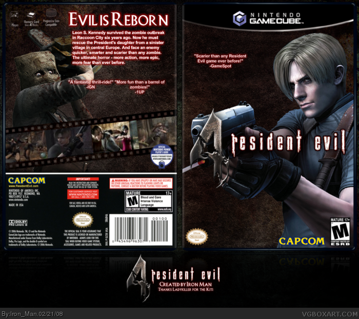 Resident Evil 4 Gamecube Box Art Cover By Iron Man