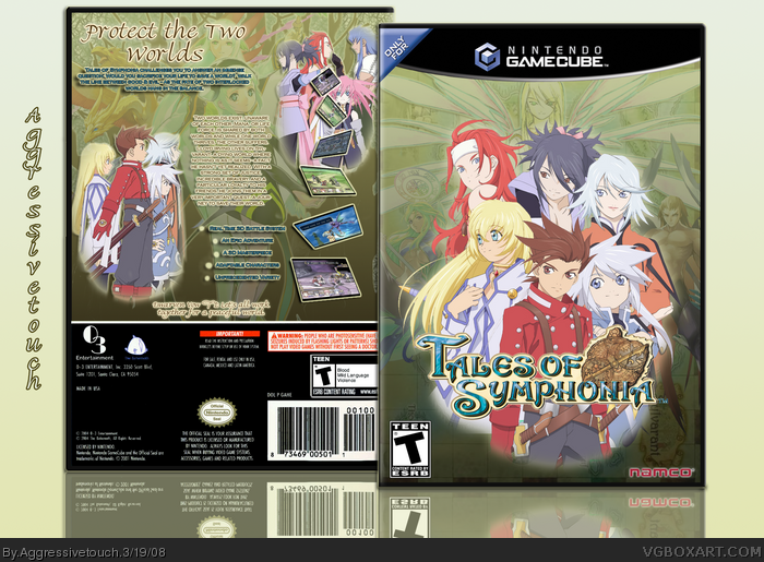 Gamecube Box Art Tales of Symphonia Box Art