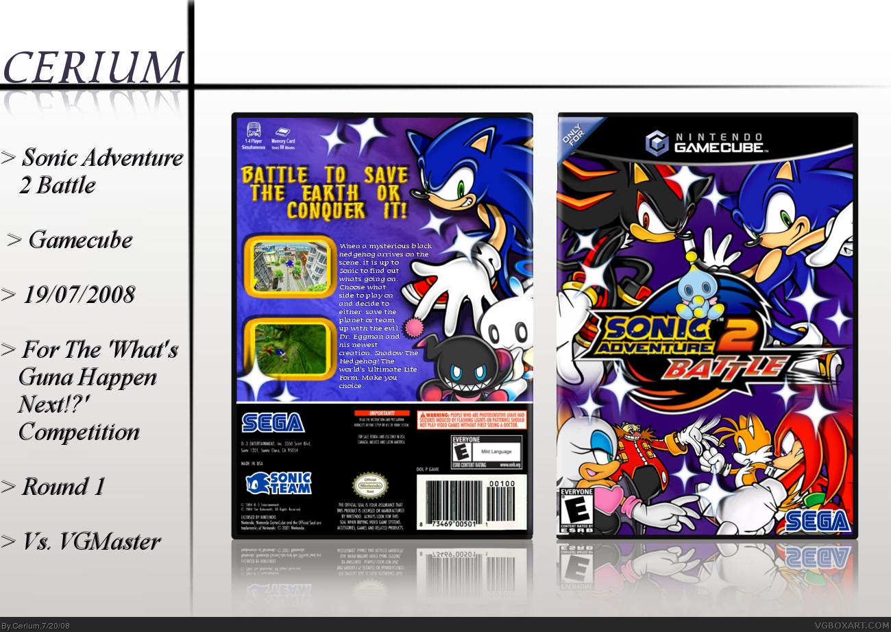 Sonic Adventure 2 Battle Gamecube Box Art Cover By Cerium