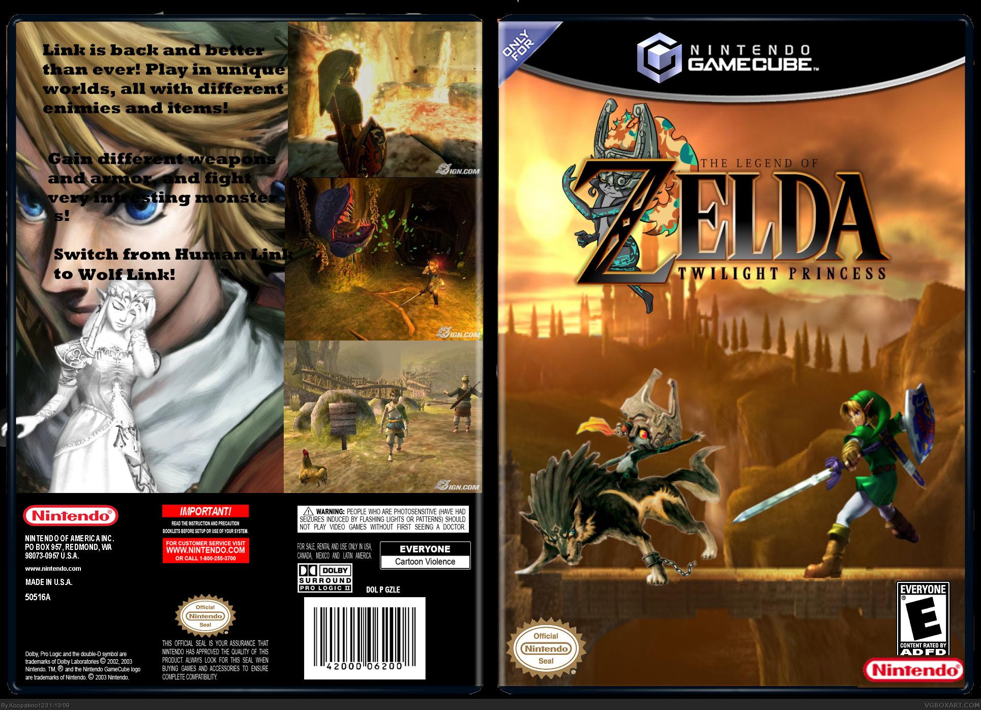 legend of zelda twilight princess gamecube box art cover