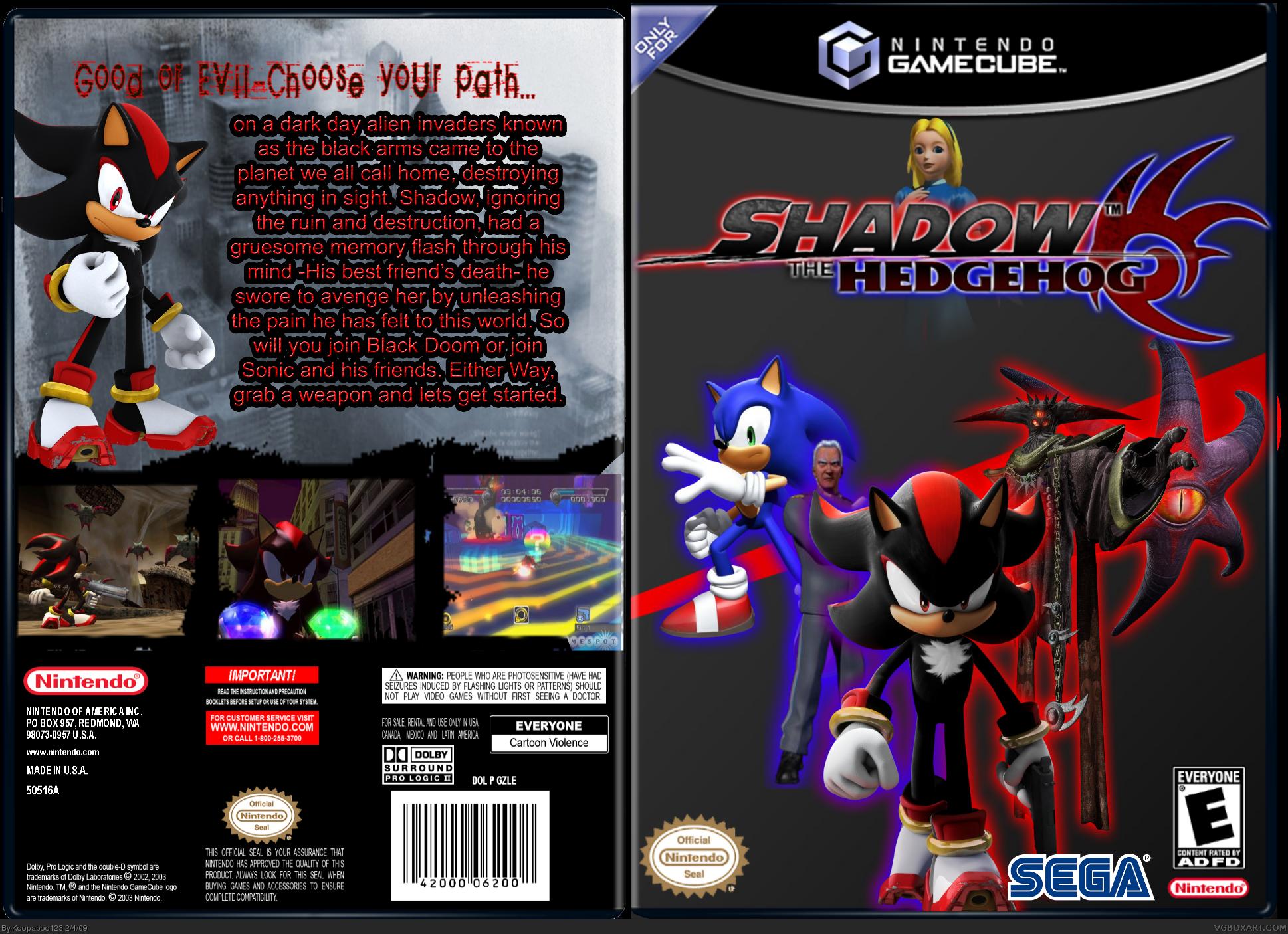 Shadow The Hedgehog Gamecube Box Art Cover By Koopaboo123