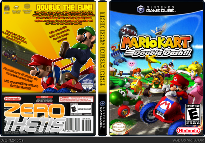 Mario Kart Double Dash Gamecube Box Art Cover By Z T