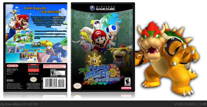 Gamecube Box Art Super Mario Sunshine Box Art