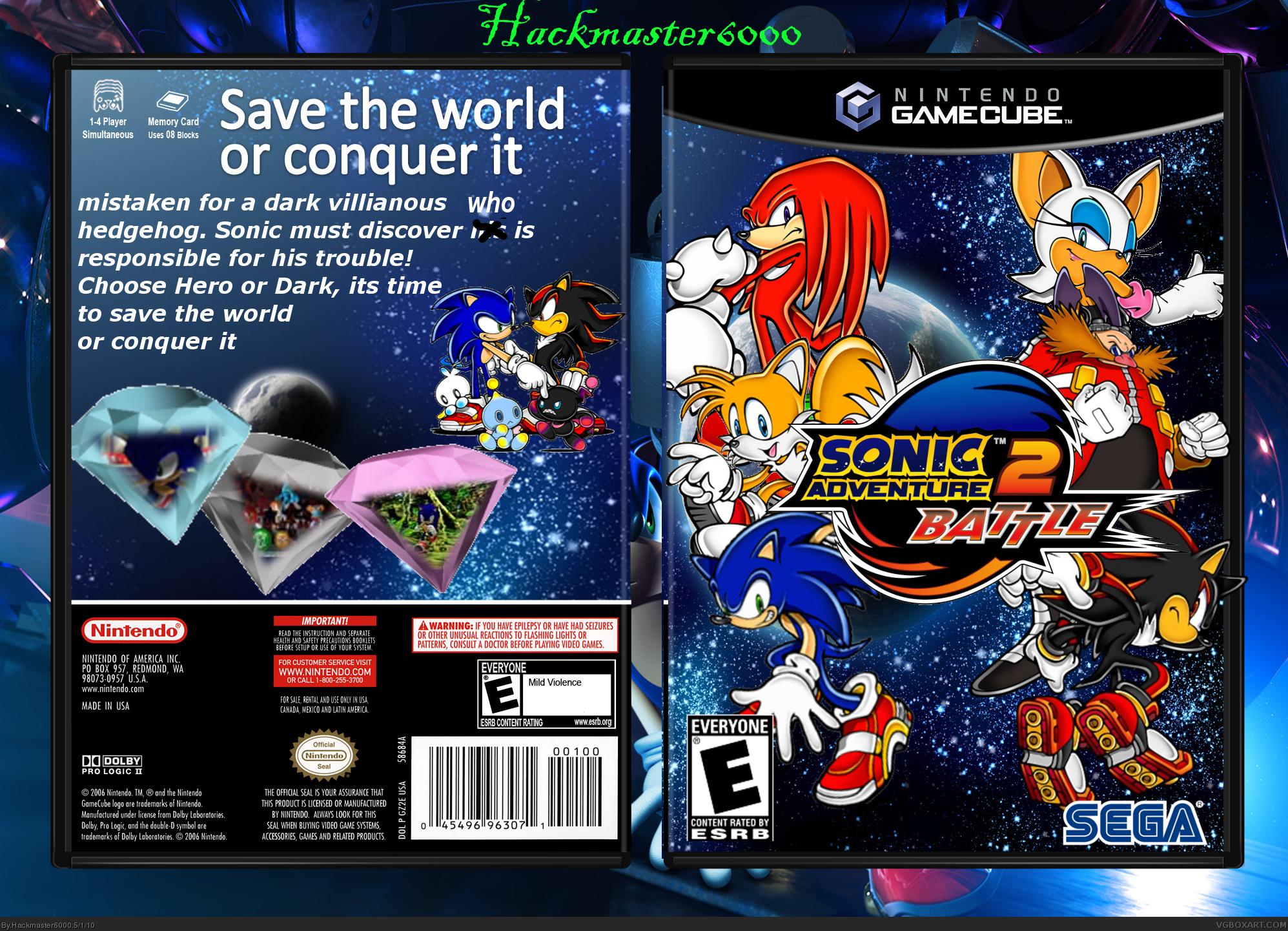 Sonic Adventure 2 Battle Gamecube Box Art Cover By