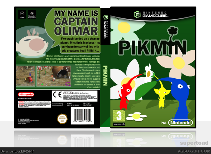 Pikmin Gamecube Box Art Cover By Supertoad