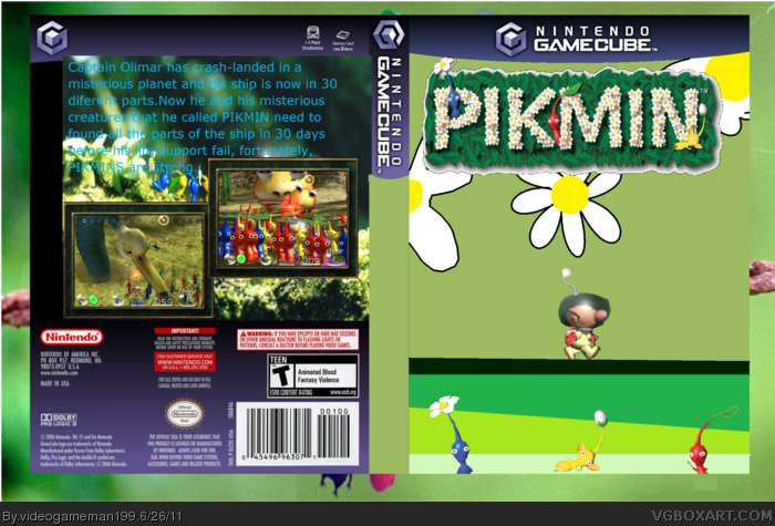 Pikmin Gamecube Box Art Cover By Videogameman199